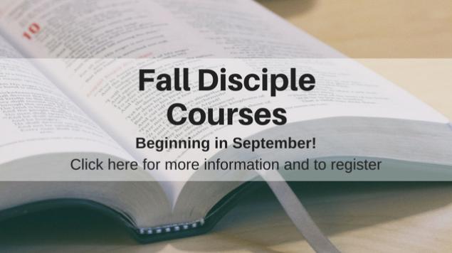 Fall Disciple Courses