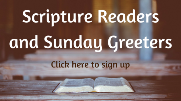 Scripture reader and Greeter signup