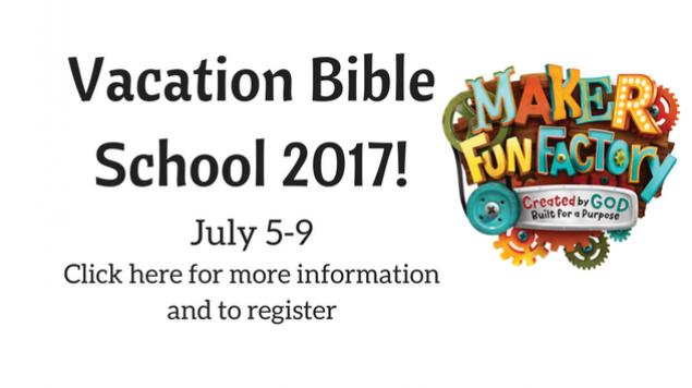 Vacation Bible School 2017!